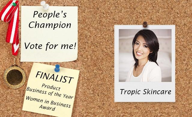 People's Champion Finalist: Tropic Skincare - Startups co uk