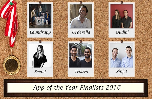 Startups Awards 2016 App of the Year Finalists