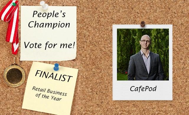 People's Champion finalist 2016: Cafépod