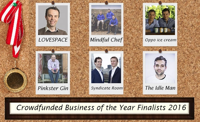 Startups Awards 2016 Crowdfunded Business of the Year Finalists
