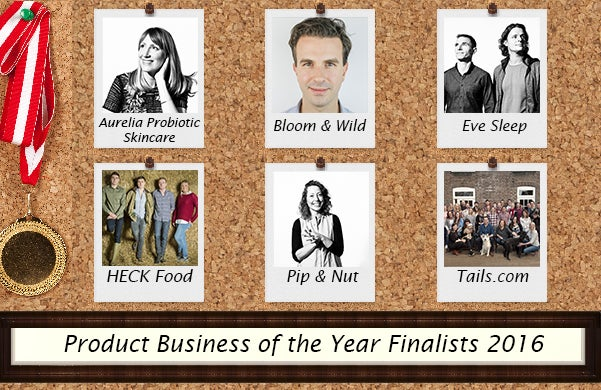Product Business of the Year Startups Awards Finalists 2016