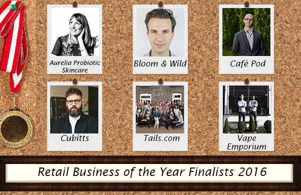 Retail Business of the Year Startups Awards Finalists 2016
