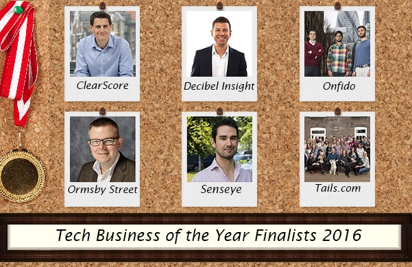 Tech Business of the Year Startups Awards Finalists 2016