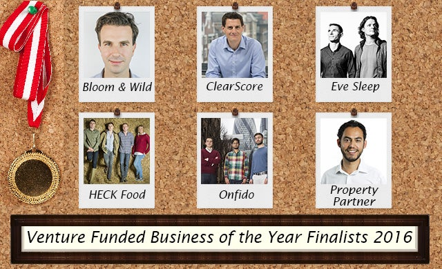 Venture funded Business of the Year 2016: Meet the finalists