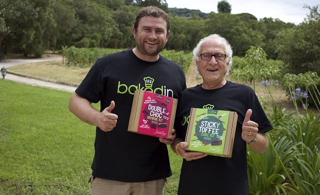 Bakedin founder Joseph Munns with chef Michel Roux OBE