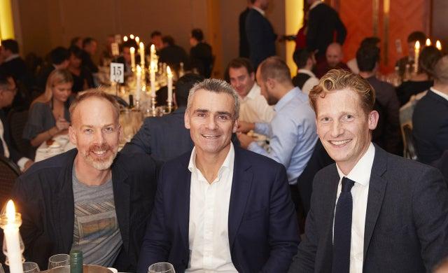 Jon Wright and Giles Brook with Ian