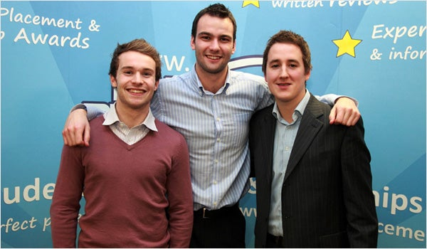 Ratemyplacement: Alastair Lindsay, Chris Wickson and Oliver Sidwell