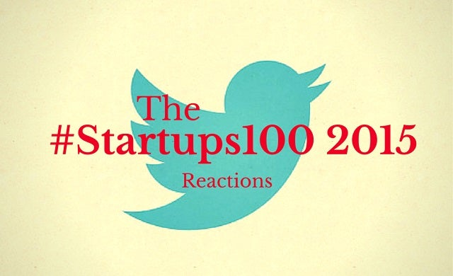 The best winners' reactions of #Startups100 2015