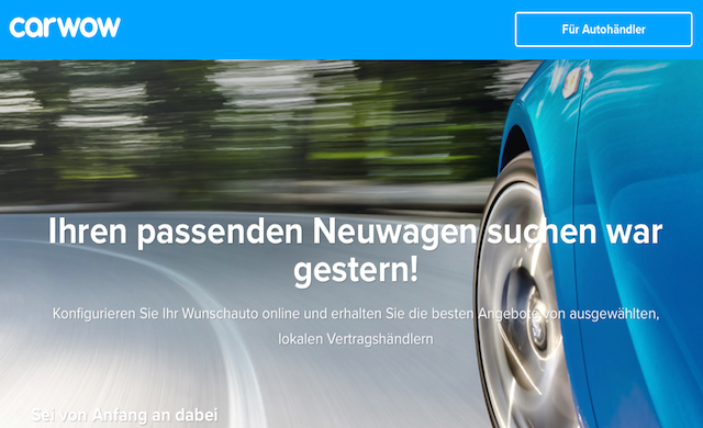new car launches in germanycarwow revs up for launch in Germany  Startups 100 by Startupsco