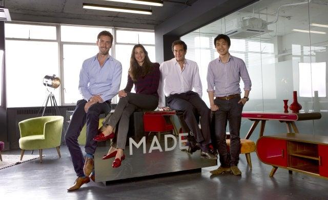 Made.com's Julien Callède, Chloè Macintosh, Brent Hoberman, Ning Li
