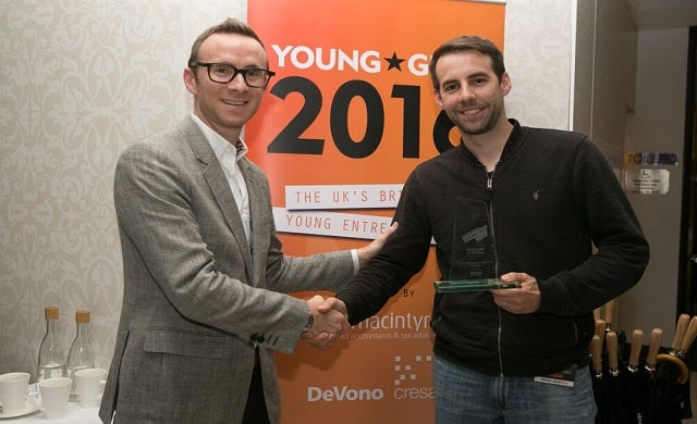 Golden Gun award goes to SwiftKey's Dr Ben Medlock MBE and Jon Reynolds MBE at 2016 Young Guns