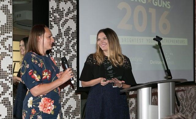 Olivia Burton founders Jemma Fennings and Lesa Bennett at the 2016 awards