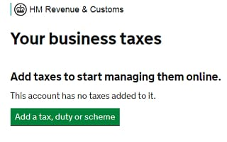 How to register self employed: add tax screenshot from HMRC